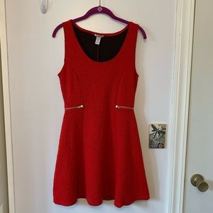 Charlotte Russe Red Rose A-Line Dress